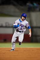 Tennessee Smokies second baseman Trent Giambrone (6) runs the bases during a game against the Birmingham Barons on August 16, 2018 at Regions FIeld in Birmingham, Alabama.  Tennessee defeated Birmingham 11-1.  (Mike Janes/Four Seam Images)