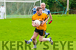 Castleisland Desmonds V Listowel Emmets: Listowel Emmets Ger McCarthy wins the ball from Castleisland Desmonds Mike Brosnan in semi final of the Bernard O'Callaghan Memorial Senior Football championship played in Finuge on Sunday last.