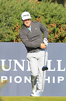 David Lingmerth (SWE) on the 12th tee during Round 2 of the 2015 Alfred Dunhill Links Championship at Kingsbarns in Scotland on 2/10/15.<br /> Picture: Thos Caffrey | Golffile