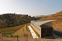 Winery building. Mas Igneus, Gratallops, Priorato, Catalonia, Spain.