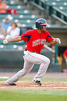July 22, 2009:  Freddy Guzman of the Pawtucket Red Sox during a game at Frontier Field in Rochester, NY.  Pawtucket is the Triple-A International League affiliate of the Boston Red Sox.  Photo By Mike Janes/Four Seam Images