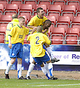 01/09/2007       Copyright Pic: James Stewart.File Name : sct_jspa02_partick_v_hamilton.RICHARD OFFIONG CELEBRATES AFTER HE SCORES HAMILTON'S FIRST....James Stewart Photo Agency 19 Carronlea Drive, Falkirk. FK2 8DN      Vat Reg No. 607 6932 25.Office     : +44 (0)1324 570906     .Mobile   : +44 (0)7721 416997.Fax         : +44 (0)1324 570906.E-mail  :  jim@jspa.co.uk.If you require further information then contact Jim Stewart on any of the numbers above........