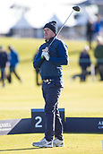 5th October 2017, The Old Course, St Andrews, Scotland; Alfred Dunhill Links Championship, first round; Sir Anthony McCoy tees off on the second