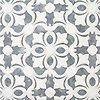 Galata, a waterjet mosaic, shown in polished Dolomite and Allure, is part of the Miraflores collection by Paul Schatz for New Ravenna.