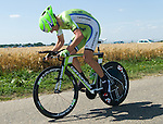 SITTARD, NETHERLANDS - AUGUST 16: Maciej Paterski of Poland riding for Cannondale Pro Cycling competes during stage 5 of the Eneco Tour 2013, a 13km individual time trial from Sittard to Geleen, on August 16, 2013 in Sittard, Netherlands. (Photo by Dirk Markgraf/www.265-images.com)