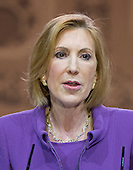 Carly Fiorina, Chairman, American Conservative Union Foundation, speaks at the Conservative Political Action Conference (CPAC) at the Gaylord National at National Harbor, Maryland on Saturday, March 8, 2014.<br /> Credit: Ron Sachs / CNP