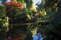 10/10/16 <br /> <br /> Stunning autumn colour is reflected into the pond that is the centre-piece of the Japanese Garden at the National Trust's Biddulph Grange near Stoke on Trent, Staffordshire.<br /> <br /> All Rights Reserved: F Stop Press Ltd. +44(0)1773 550665   www.fstoppress.com