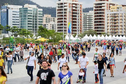 09.09.2016. Rio de Janeiro, Brazil.  Spectators visit the Olympic Park of the Rio 2016 Paralympic Games, Rio de Janeiro, Brazil, 09 September 2016.