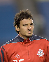 Toronto FC midfielder Martin Saric (25). The New England Revolution defeated Toronto FC, 4-1, at Gillette Stadium on April 10, 2010.