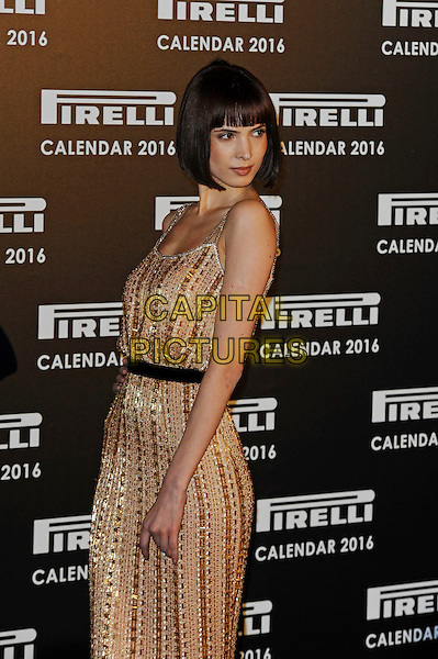 LONDON, ENGLAND - NOVEMBER 30: Hanaa Ben Abdesslem attending Gala Evening To Celebrate The Pirelli Calendar 2016 By Annie Leibovitz at Camden Roundhouse on November 30, 2015 in London, England.<br /> CAP/MAR<br /> &copy; Martin Harris/Capital Pictures