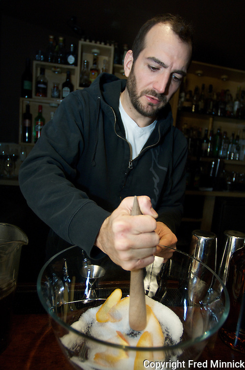 "Charles Joly, the chief mixologist at the Drawing Room in Chicago, creates the Guild Meeting, a tea punch with Canton ginger liquor and Rittenhouse Rye Whisky. Joly won $100,000 on the reality show ""On The Rocks."" The Chicago Tribune named him ""Beverage professional of the year"" Jan. 13, 2011."