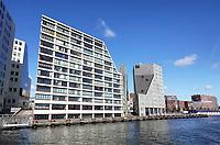 Nederland Amsterdam 2018. Het IJdock ( IJdok ). Appartementen aan het IJ.   Foto Berlinda van Dam / Hollandse Hoogte
