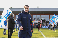 20200121- Oostakker, BELGIUM : Gent;s trainer Dave Mattheus pictured at the start of the semi final of Belgian Cup 2020 , women's soccer game between KAA Gent Ladies and R Standard de Liège Femina, on Sunday 26th January 2020, at at the PGB stadion in Oostakker, Ghent, BELGIUM . PHOTO: SPORTPIX.BE | SEVIL OKTEM