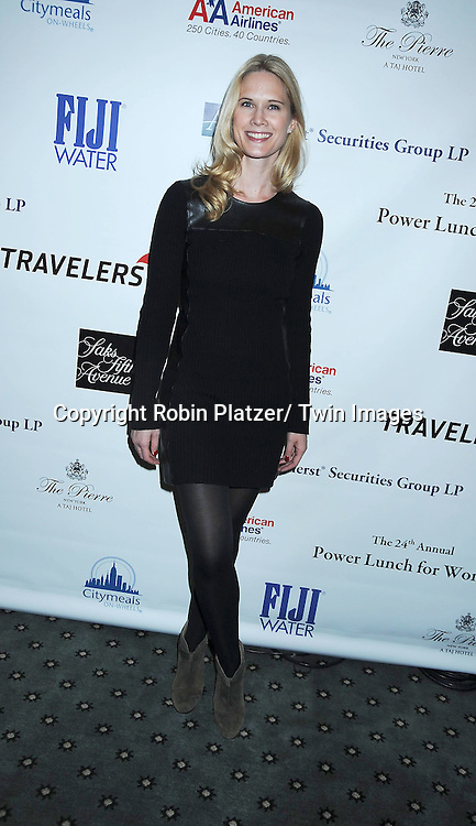 Stephanie Marchposing for photographers at The 24th Annual Citymeals-on-Wheels Power Lunch for Women on November 12, 2010 at The Pierre Hotel in New York City.
