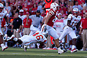 04 Sep 2010: Western Kentucky Hilltoppers cornerback Kareem Peterson (46) trying to take down Nebraska Cornhuskers running back Rex Burkhead (22) at Memorial Staduim in Lincoln, Nebraska. Nebraska defeated Western Kentucky 49 to 10.