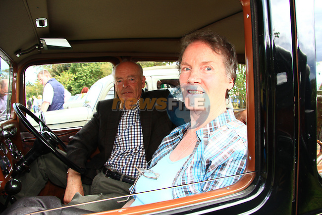 Brendan Fay and Kit Fay in their 1937 Austin Hertford at the festival..Picture: Shane Maguire / www.newsfile.ie.