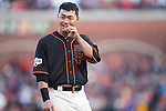 Norichika Aoki (Giants),<br /> MAY 9, 2015 - MLB : Norichika Aoki of the San Francisco Giants is seen during the Major League Baseball game against the Miami Marlins at AT&amp;T Park in San Francisco, California, United States.<br /> (Photo by Thomas Anderson/AFLO) (JAPANESE NEWSPAPER OUT)