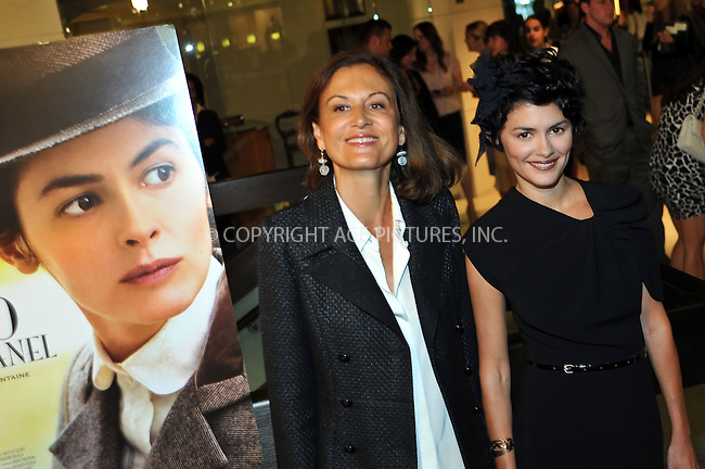 WWW.ACEPIXS.COM . . . . . ....September 9 2009, LA....Director Anne Fontaine (L) and actress Audrey Tautou (R) at the premiere of the Sony Pictures movie 'Coco Before Chanel' at the Silver Screen theatre in Los Angeles on September 9 2009.....Please byline: JOE WEST- ACEPIXS.COM.. . . . . . ..Ace Pictures, Inc:  ..(646) 769 0430..e-mail: info@acepixs.com..web: http://www.acepixs.com
