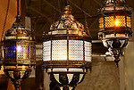 Moroccan lanterns. Home lighting and decoration.