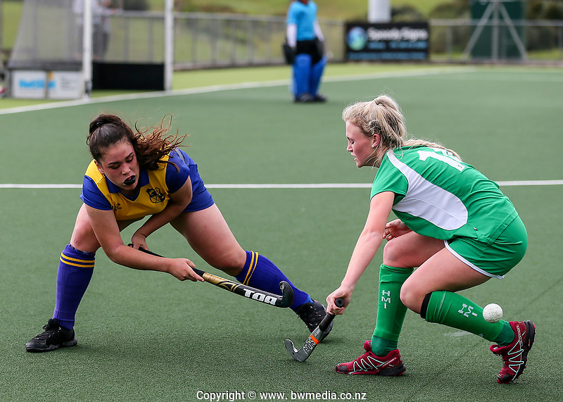 Manawatu v Bay of Plenty. Action during the U-15 Premier Girls Hockey Nationals. North Harbour Hockey, Auckland, New Zealand. Monday 4 October 2017. Photo:Simon Watts / www.bwmedia.co.nz