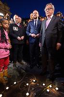 Charles Michel & Juncker attend a tribute following Terrorisrt attacks in Brussels