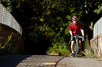 Sam Behr riding Carrera Vanquish road bike . Sunninghill, Berks.   September    2013.      pic copyright Steve Behr / Stockfile