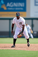 Detroit Tigers Luis Laurencio (55) during a Florida Instructional League game against the Pittsburgh Pirates on October 6, 2018 at Joker Marchant Stadium in Lakeland, Florida.  (Mike Janes/Four Seam Images)