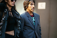 Anthony Kiedis attends Day 7 of New York Fashion Week on Feb 18, 2015 (Photo by Hunter Abrams/Guest of a Guest)
