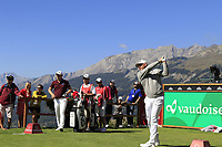 Lee Westwood (ENG) tees off the 7th tee during Saturday's Round 3 of the 2018 Omega European Masters, held at the Golf Club Crans-Sur-Sierre, Crans Montana, Switzerland. 8th September 2018.<br /> Picture: Eoin Clarke | Golffile<br /> <br /> <br /> All photos usage must carry mandatory copyright credit (&copy; Golffile | Eoin Clarke)