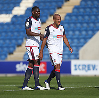 Bolton Wanderers' Richardo Almedia-Santos and Alex Baptiste<br /> <br /> Photographer Rob Newell/CameraSport<br /> <br /> The EFL Sky Bet League Two - Colchester United v Bolton Wanderers - Saturday 19th September 2020 - Colchester Community Stadium - Colchester<br /> <br /> World Copyright © 2020 CameraSport. All rights reserved. 43 Linden Ave. Countesthorpe. Leicester. England. LE8 5PG - Tel: +44 (0) 116 277 4147 - admin@camerasport.com - www.camerasport.com