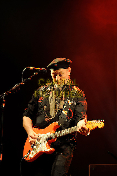 Richard Thompson.performing in concert, Shepherd's Bush Empire, London, England. .25th February 2013.on stage lie gig performance music half length hat flat cap scarf black shirt  guitar goatee facial hair .CAP/MAR.© Martin Harris/Capital Pictures.