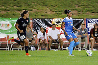 Piscataway, NJ - Saturday Aug. 27, 2016: Samantha Kerr, Samantha Johnson during a regular season National Women's Soccer League (NWSL) match between Sky Blue FC and the Chicago Red Stars at Yurcak Field.