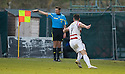 29/01/2011   Copyright  Pic : James Stewart.sct_jsp030_st_mirren_v_dundee_utd  .:: DOUGIE IMRIE'S CELEBRATION IS CUT SHORT BY THE STAND SIDE ASSISTANT REFEREE ::.James Stewart Photography 19 Carronlea Drive, Falkirk. FK2 8DN      Vat Reg No. 607 6932 25.Telephone      : +44 (0)1324 570291 .Mobile              : +44 (0)7721 416997.E-mail  :  jim@jspa.co.uk.If you require further information then contact Jim Stewart on any of the numbers above.........