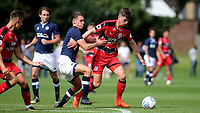 Luca Colville of Huddersfield Town tries to shake off a challenge from a Millwall defender during Millwall Under-23 vs Huddersfield Town Under-23, Professional Development League Football at Millwall Training Ground on 14th August 2017