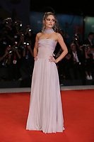 """VENICE, ITALY - SEPTEMBER 02: Lily Rose attends """"The King"""" red carpet during the 76th Venice Film Festival at Sala Grande on September 02, 2019 in Venice, Italy. (Photo by Marck Cape/Inside foto)<br /> Venezia 02/09/2019"""