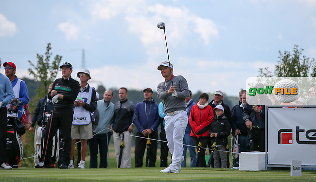 Soren Kjeldsen (DEN) on the 5th tee during the Final Round of the D&D Real Czech Masters 2014 from the Albatross Golf Resort, Vysoky Ujezd, Prague. Picture:  David Lloyd / www.golffile.ie