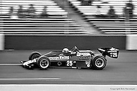 HAMPTON, GA - APRIL 22: Danny Ongais drives his Parnelli VPJ6C/Cosworth TC during the Gould Twin Dixie 125 event on April 22, 1979, at Atlanta International Raceway near Hampton, Georgia.