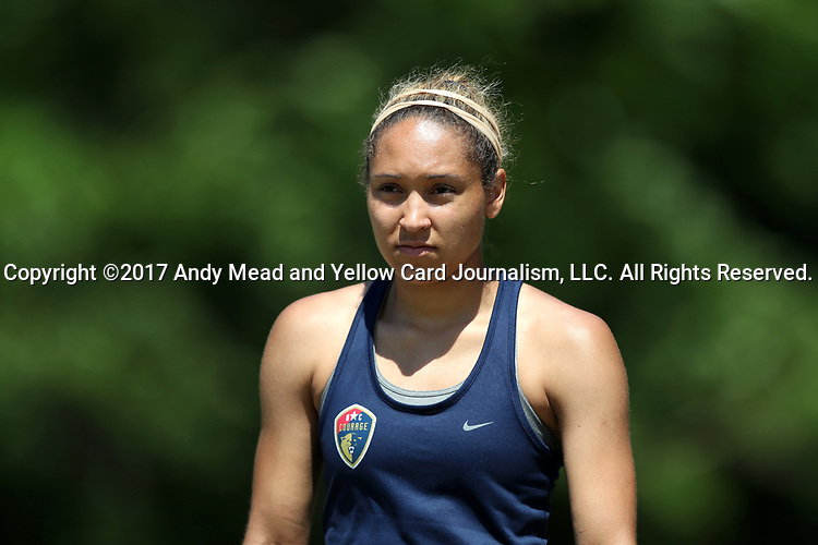 CARY, NC - MAY 04: Jaelene Hinkle. The North Carolina Courage held a training session on May 4, 2017, at WakeMed Soccer Park Field 6 in Cary, NC.