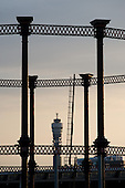 The landmark gas holder behind St Pancras Station and the Post Office Tower, London.