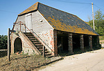 Traditional Sussex barn building, Litlington, East Sussex, England