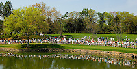 Crowds gather to watch the golf action during the 2007 Wachovia Championships at Quail Hollow Country Club in Charlotte, NC.