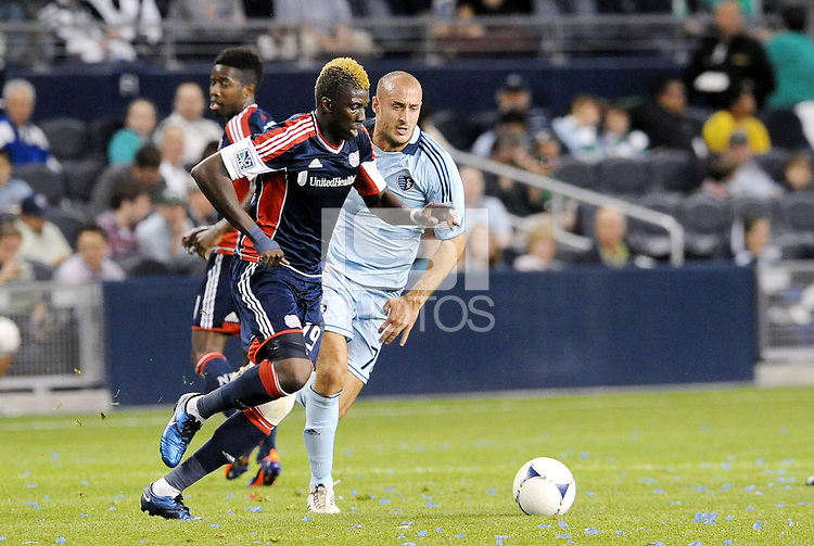 Saer Sene (39) New Englandforward in action... Sporting Kansas City defeated New England Revolution 3-0 at LIVESTRONG Sporting Park, Kansas City, Kansas.
