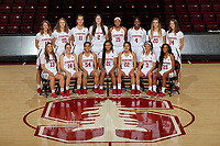 Stanford, CA -- November 1, 2018: 2018-2019 Stanford Women's Basketball Team.