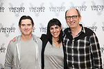 Billy Crudup, Leigh Silverman and David Cale during the photo call for the Vineyard Theatre's production of David Cale's 'HarryClarke' at the Shelter studios on October 2, 2017 in New York City.