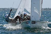 470 /  Sui Lun TSE - Ho Yin CHIK (HK)<br /> ISAF Sailing World Cup Final - Melbourne<br /> St Kilda sailing precinct, Victoria<br /> Port Phillip Bay Tuesday 6 Dec 2016<br /> &copy; Sport the library / Jeff Crow