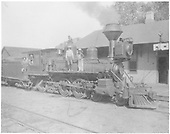 Engine #164 with two people on engine.<br /> D&amp;RG  Cimarron, CO