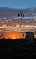 Windmill at Sunrise, Goliad, Texas