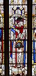Sixteenth century stained glass windows inside church of Saint Mary, Fairford, Gloucestershire, England, UK - window 20 Isaiah