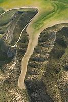 Aerial views, farming, Algodor, Spain