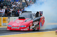 Aug. 5, 2011; Kent, WA, USA; NHRA funny car driver Jeff Diehl during qualifying for the Northwest Nationals at Pacific Raceways. Mandatory Credit: Mark J. Rebilas-